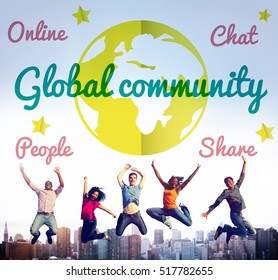 Global Community Communication Message Concept