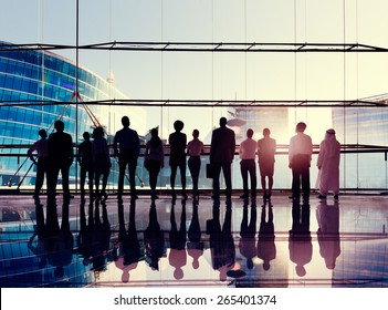 Global Corporate Business Team Vision Mission Concept