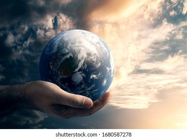 Global danger and environment concept. Elements of this Image Furnished by NASA. 3d rendering.