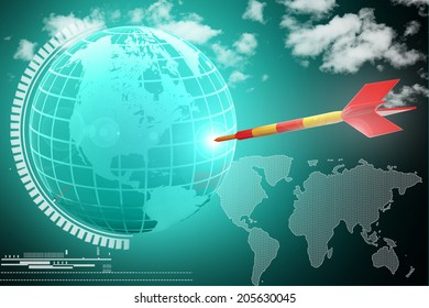 Global And Dart for Business Concept