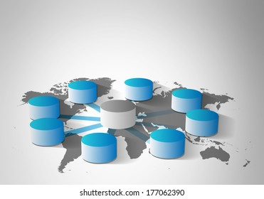 Global database integration and concept of data warehousing, mining, ETL