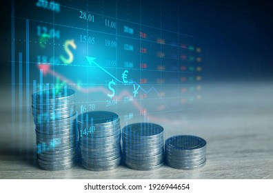 Global finance and stock market charts are suitable for financial investment ideas and economic growth trends.
