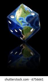 Global Gamble Earth in shape of die