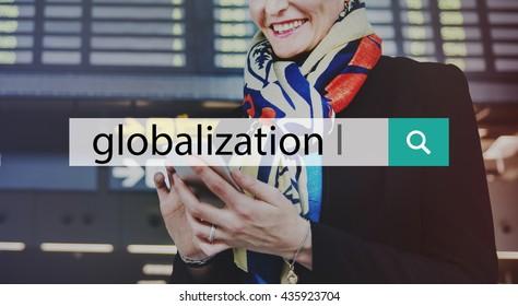 Global Globalization Exchange International Concept