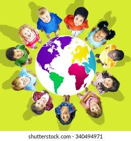 Global Globalization World Map Environmental Concept