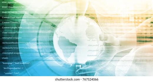 Global Integration of Technologies as a Concept 3d Render