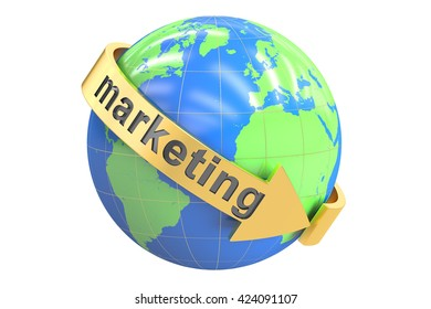 Global Marketing concept 3D rendering isolated on white background