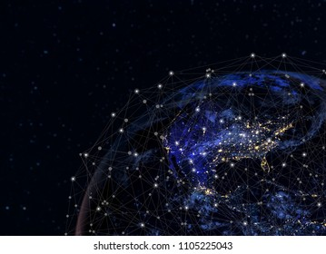 Global network concept / this image furnished by NASA / Communication Concepts