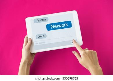 Global Network Internet Technology Concept