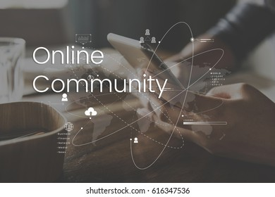 Global Network Online Communication Connection