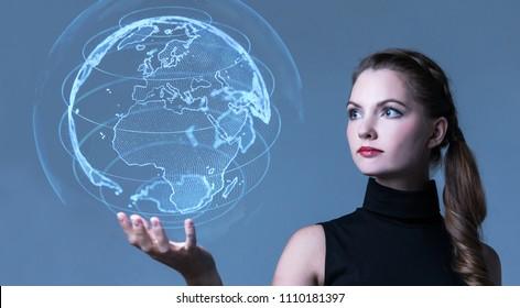 Global netwrok concept.