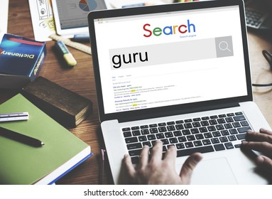 Global Search Website Browser Guru Concept