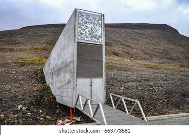 Global seed vaults Longyearbyen in Svalbard Norway