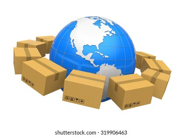 Global Shipping Illustration