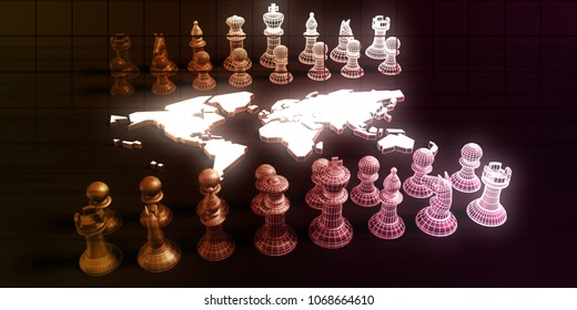 Global Strategy For a Business Company Startup 3D Render