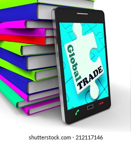 Global Trade Smartphone Meaning Online Worldwide Commerce