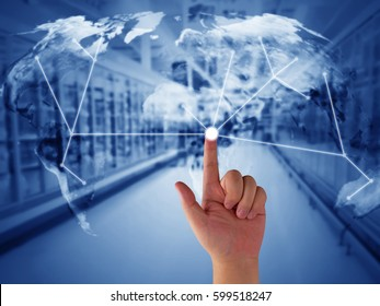 Global trading network, supply chain management concept, logistic import and export, Elements of this image furnished by NASA
