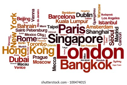 Global travel destinations - cities of the world with the most visitors