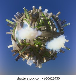 Global view of business world. 3d illustration