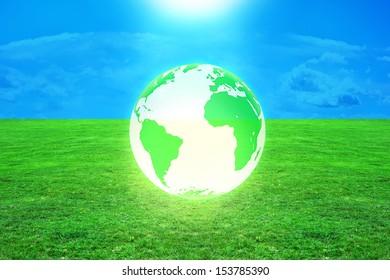 Global warming - 3d rendered illustration