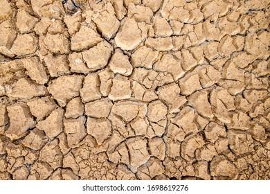 Global warming, arid, dry, cracked earth.