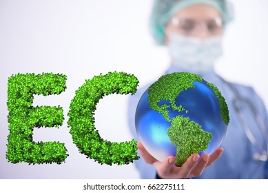 Global warming concept - earth day concept