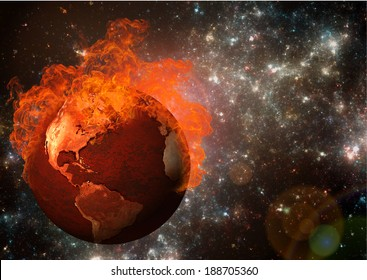 Global warming concept. Elements of this image furnished by NASA.