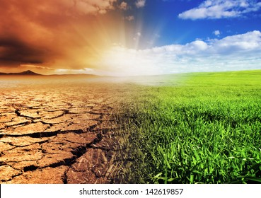 A global warming concept image