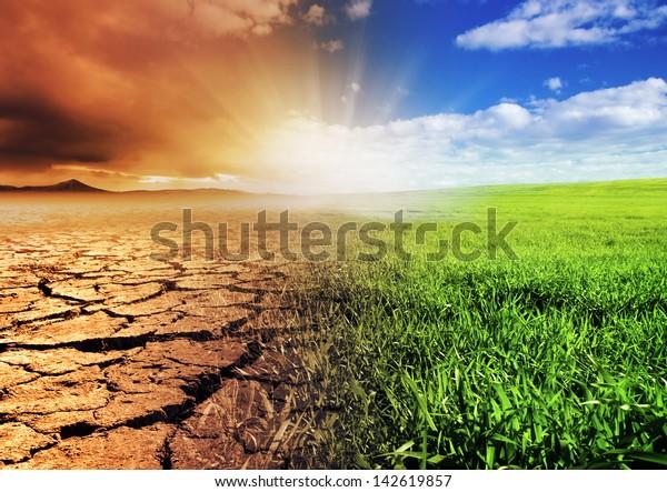 Una imagen de concepto del calentamiento global