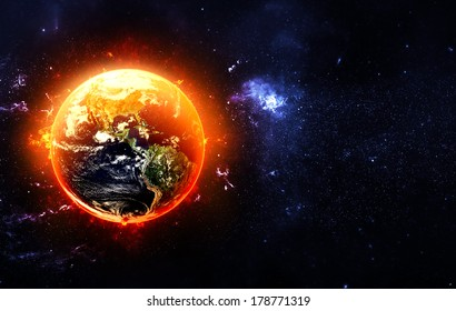 Global Warming - Elements of this Image Furnished by NASA