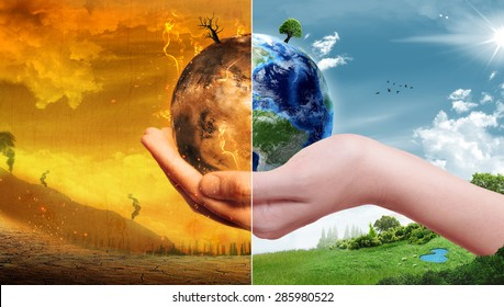 Global Warming and Pollution Concept - Sustainability (Elements of this image furnished by NASA)
