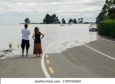 Global Warming Sea Levels rising - Shutterstock ID 1709550403