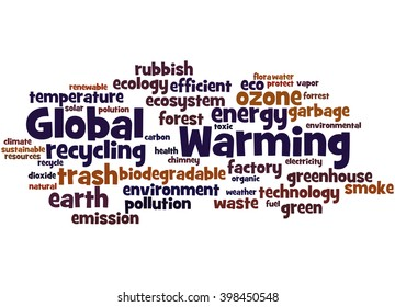 Global Warming, word cloud concept on white background.