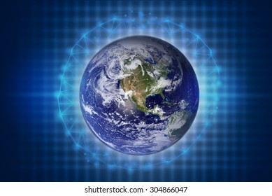 Globalization concept,Elements of this image furnished by NASA.