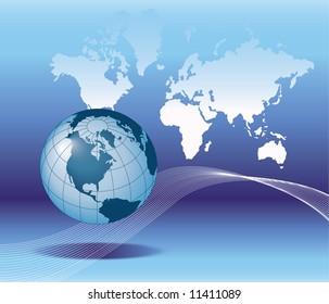globe binary Background