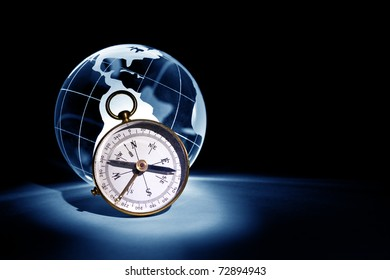 Globe and Compass for background