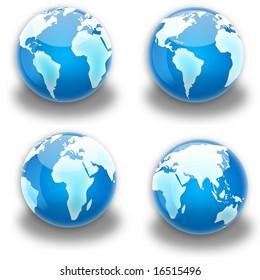 Globe continent