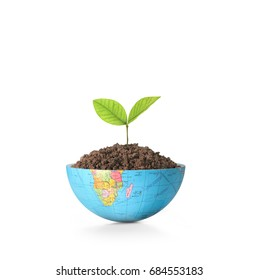 Globe Earth a environment concept