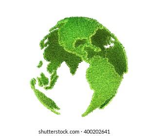 globe of grass 3D render