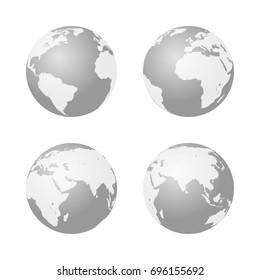 Globe icon Earth symbol.