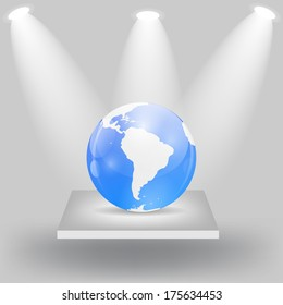 Globe Icon  Illustration.