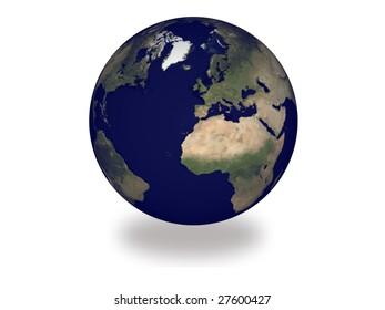 globe isolated on white background