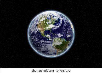 Globe - Nord- und Südamerika - Erdstruktur von NASA.gov