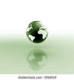 Globe on abstract background.