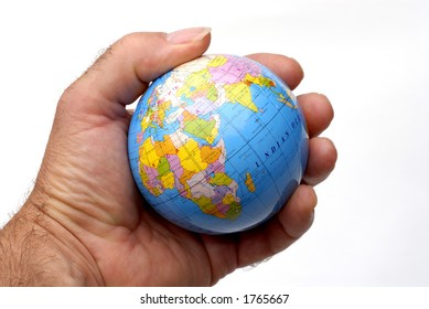 A Globe In The Palm Of A Hand