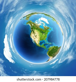 Globe real relief. Elements of this image furnished by NASA