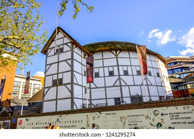 The Globe Theatre, the London Borough of Southwark, on the south bank of River Thames, London, UK. 19.04.2014