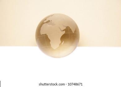 globe for web site headers. beige