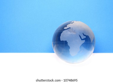 globe for web site headers. blue