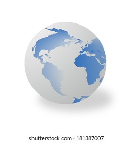 globe with white background